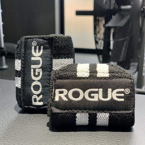 【即お届け】【ROGUE】ROGUE WRIST WRAPS(Black/White)12インチ<img class='new_mark_img2' src='https://img.shop-pro.jp/img/new/icons7.gif' style='border:none;display:inline;margin:0px;padding:0px;width:auto;' />