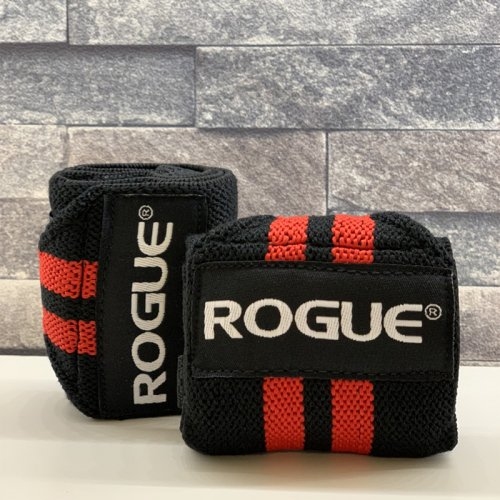 【即お届け】【ROGUE】ROGUE WRIST WRAPS(BLACK/RED)18インチ<img class='new_mark_img2' src='https://img.shop-pro.jp/img/new/icons7.gif' style='border:none;display:inline;margin:0px;padding:0px;width:auto;' />