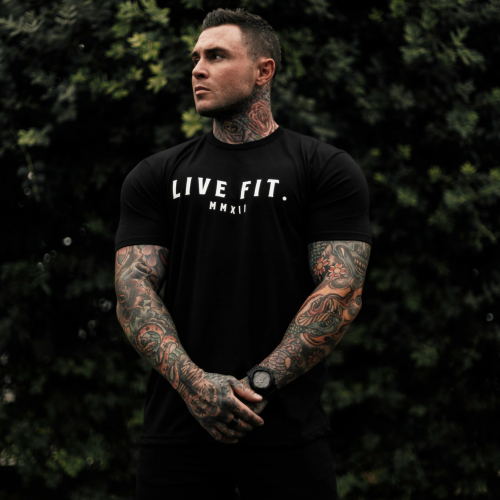 【即お届け】【LIVE FIT】【LVFT】Knight Tee  (Black)<img class='new_mark_img2' src='//img.shop-pro.jp/img/new/icons7.gif' style='border:none;display:inline;margin:0px;padding:0px;width:auto;' />