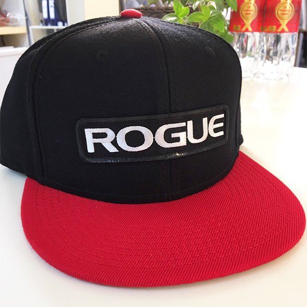 31022df4e63  即お届け  ROGUE ROGUE SNAPBACK PATCH HAT(Black Red)