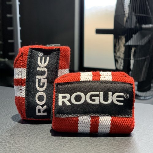 【即お届け】【ROGUE】ROGUE WRIST WRAPS(Red & White)12インチ<img class='new_mark_img2' src='https://img.shop-pro.jp/img/new/icons7.gif' style='border:none;display:inline;margin:0px;padding:0px;width:auto;' />