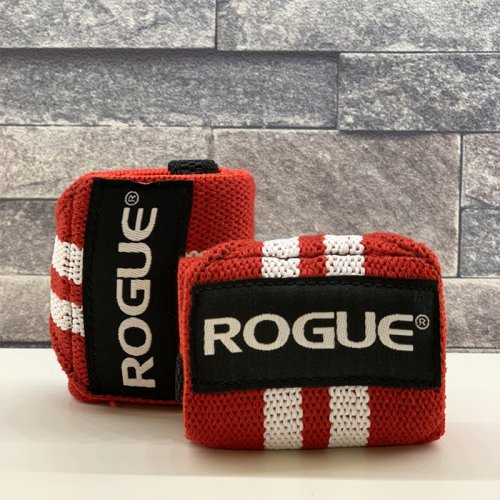 【即お届け】【ROGUE】ROGUE WRIST WRAPS(RED/WHITE)18インチ<img class='new_mark_img2' src='https://img.shop-pro.jp/img/new/icons7.gif' style='border:none;display:inline;margin:0px;padding:0px;width:auto;' />