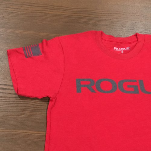【即お届け】【ROGUE】ROGUE BASIC SHIRT(Red/Grey)<img class='new_mark_img2' src='https://img.shop-pro.jp/img/new/icons7.gif' style='border:none;display:inline;margin:0px;padding:0px;width:auto;' />