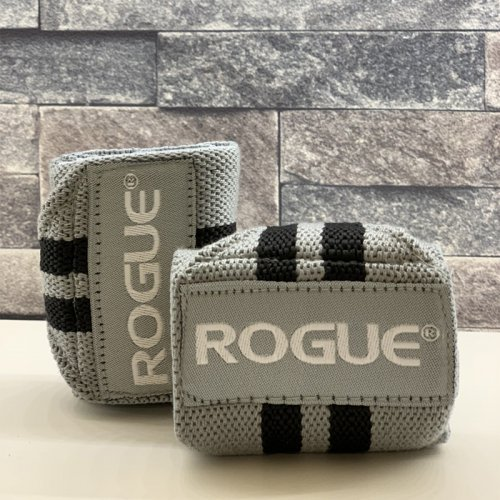【即お届け】【ROGUE】ROGUE WRIST WRAPS(Gray & Black)18インチ<img class='new_mark_img2' src='https://img.shop-pro.jp/img/new/icons7.gif' style='border:none;display:inline;margin:0px;padding:0px;width:auto;' />