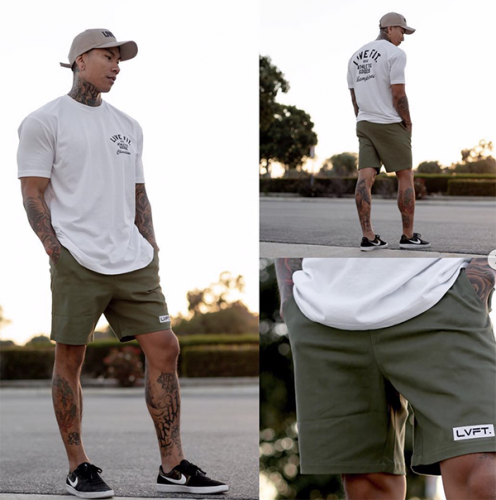 【即お届け】【LIVE FIT】【LVFT】Lifestyle Shorts(Olive)<img class='new_mark_img2' src='https://img.shop-pro.jp/img/new/icons7.gif' style='border:none;display:inline;margin:0px;padding:0px;width:auto;' />