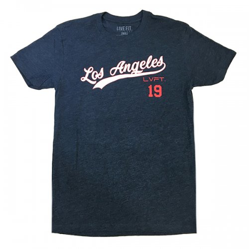 【EXCLUSIVE COLLECTION】【即お届け】【LIVE FIT】【LVFT】LA Tee(Navy/White)<img class='new_mark_img2' src='https://img.shop-pro.jp/img/new/icons7.gif' style='border:none;display:inline;margin:0px;padding:0px;width:auto;' />