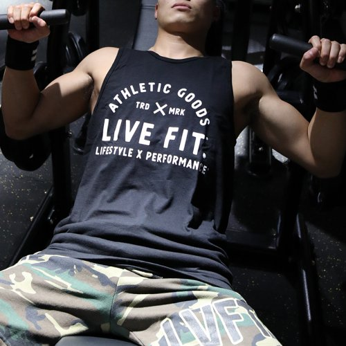 【即お届け】【LIVE FIT】【LVFT】TRD Tank(Black )<img class='new_mark_img2' src='https://img.shop-pro.jp/img/new/icons7.gif' style='border:none;display:inline;margin:0px;padding:0px;width:auto;' />