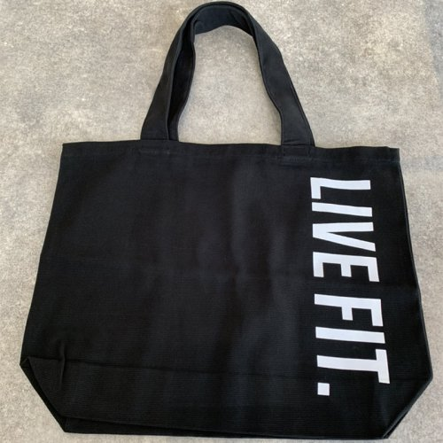 【即お届け】【LIVE FIT】【LVFT】Live Fit Tote Bag(Black/white)<img class='new_mark_img2' src='https://img.shop-pro.jp/img/new/icons7.gif' style='border:none;display:inline;margin:0px;padding:0px;width:auto;' />