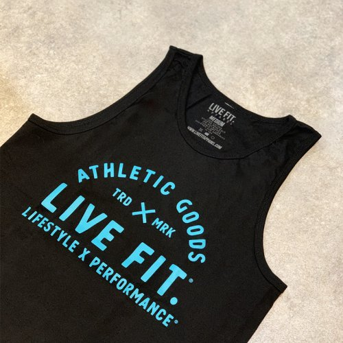 【EXCLUSIVE COLLECTION】【即お届け】【LIVE FIT】【LVFT】TRD Tank(Black/Teal )<img class='new_mark_img2' src='//img.shop-pro.jp/img/new/icons7.gif' style='border:none;display:inline;margin:0px;padding:0px;width:auto;' />