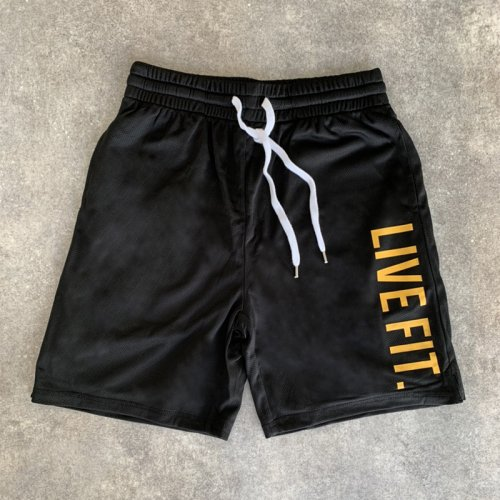 【EXCLUSIVE COLLECTION】【即お届け】【LIVE FIT】【LVFT】Court Shorts(Black/Yellow)<img class='new_mark_img2' src='https://img.shop-pro.jp/img/new/icons7.gif' style='border:none;display:inline;margin:0px;padding:0px;width:auto;' />