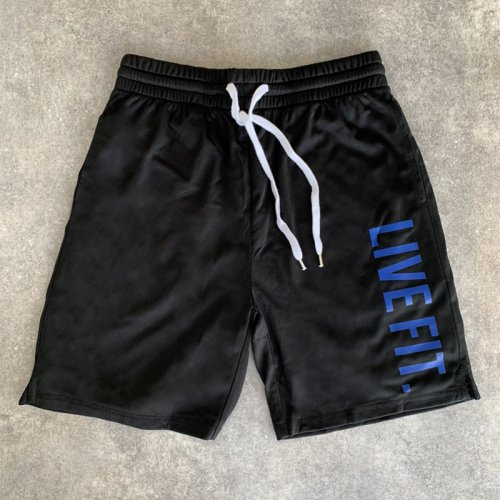 【EXCLUSIVE COLLECTION】【即お届け】【LIVE FIT】【LVFT】Court Shorts(Black/Blue)<img class='new_mark_img2' src='https://img.shop-pro.jp/img/new/icons7.gif' style='border:none;display:inline;margin:0px;padding:0px;width:auto;' />