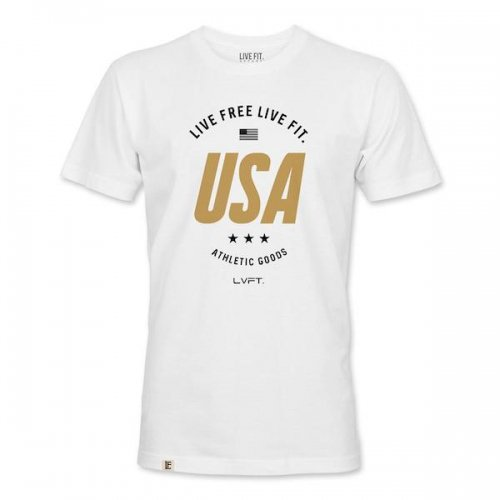 【30%OFF】【即お届け】【LIVE FIT】【LVFT】Live Free Tee (White)<img class='new_mark_img2' src='https://img.shop-pro.jp/img/new/icons24.gif' style='border:none;display:inline;margin:0px;padding:0px;width:auto;' />