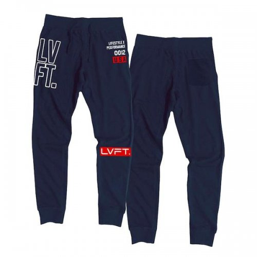 【即お届け】【LVFT】【LIVE FIT】Outline Stacked Joggers( Navy / Red )<img class='new_mark_img2' src='https://img.shop-pro.jp/img/new/icons7.gif' style='border:none;display:inline;margin:0px;padding:0px;width:auto;' />