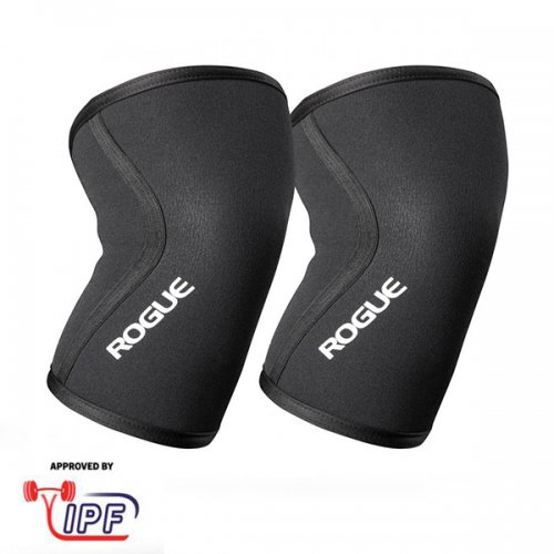 【即お届け】【ROGUE】ROGUE 7MM KNEE SLEEVE - PAIR(Black)<img class='new_mark_img2' src='https://img.shop-pro.jp/img/new/icons7.gif' style='border:none;display:inline;margin:0px;padding:0px;width:auto;' />