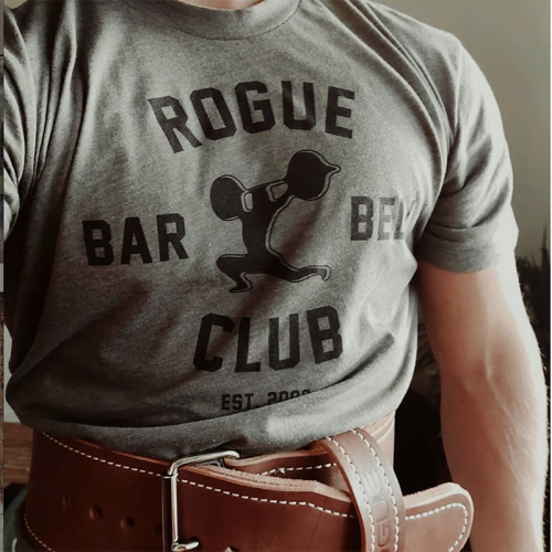 【即お届け】【ROGUE】ROGUE BARBELL CLUB 2.0 SHIRT(Green)