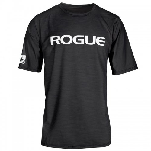 【即お届け】【ROGUE】ROGUE MEN'S PERFORMANCE SUN SHIRT(Heather Black / White)<img class='new_mark_img2' src='https://img.shop-pro.jp/img/new/icons7.gif' style='border:none;display:inline;margin:0px;padding:0px;width:auto;' />