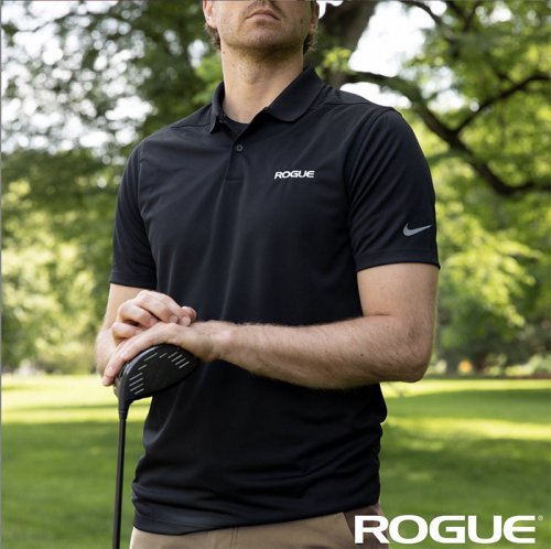 【即お届け】【ROGUE】NIKE DRI FIT POLO(Black)<img class='new_mark_img2' src='https://img.shop-pro.jp/img/new/icons7.gif' style='border:none;display:inline;margin:0px;padding:0px;width:auto;' />