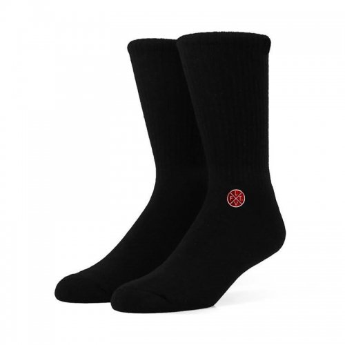 【即お届け】【LIVE FIT】【LVFT】Stamped Socks(Black / Red)<img class='new_mark_img2' src='https://img.shop-pro.jp/img/new/icons7.gif' style='border:none;display:inline;margin:0px;padding:0px;width:auto;' />