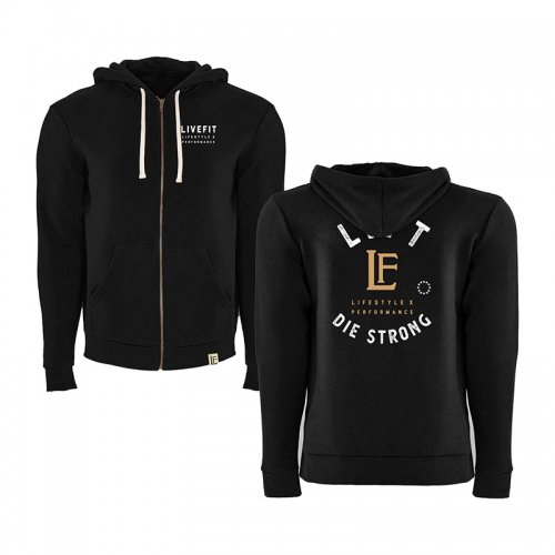 【即お届け】【LIVE FIT】【LVFT】Die Strong Zip Up(Black )<img class='new_mark_img2' src='https://img.shop-pro.jp/img/new/icons7.gif' style='border:none;display:inline;margin:0px;padding:0px;width:auto;' />