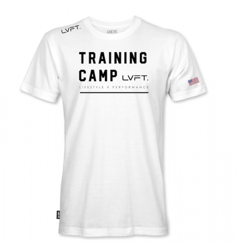 【即お届け】【LIVE FIT】【LVFT】Training Camp Tee (White)<img class='new_mark_img2' src='https://img.shop-pro.jp/img/new/icons7.gif' style='border:none;display:inline;margin:0px;padding:0px;width:auto;' />