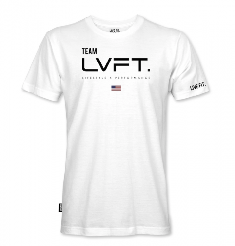 【即お届け】【LIVE FIT】【LVFT】Team LVFT Tee (White)<img class='new_mark_img2' src='https://img.shop-pro.jp/img/new/icons7.gif' style='border:none;display:inline;margin:0px;padding:0px;width:auto;' />