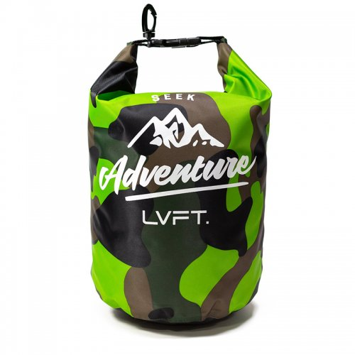 【即お届け】【LIVE FIT】【LVFT】LVFT Dry Bag(Green/Camo)<img class='new_mark_img2' src='https://img.shop-pro.jp/img/new/icons7.gif' style='border:none;display:inline;margin:0px;padding:0px;width:auto;' />