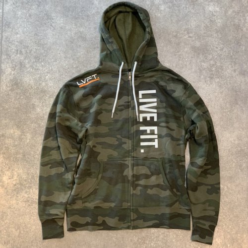 【即お届け】【LIVE FIT】【LVFT】Live Fit Zip Up  (Green Camo )<img class='new_mark_img2' src='https://img.shop-pro.jp/img/new/icons7.gif' style='border:none;display:inline;margin:0px;padding:0px;width:auto;' />