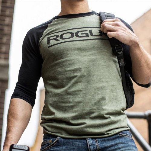 【即お届け】【ROGUE】ROGUE BLACK ON BLACK 3/4 SLEEVE(Military Green / Black)<img class='new_mark_img2' src='https://img.shop-pro.jp/img/new/icons7.gif' style='border:none;display:inline;margin:0px;padding:0px;width:auto;' />