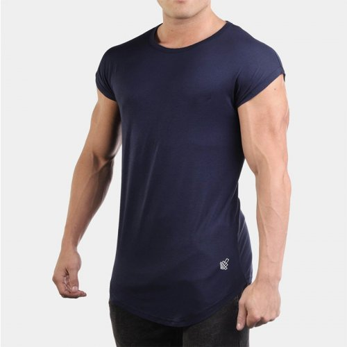 【即お届け】【JED NORTH】Evolve Capped Sleeve Tee  (Navy)<img class='new_mark_img2' src='https://img.shop-pro.jp/img/new/icons7.gif' style='border:none;display:inline;margin:0px;padding:0px;width:auto;' />