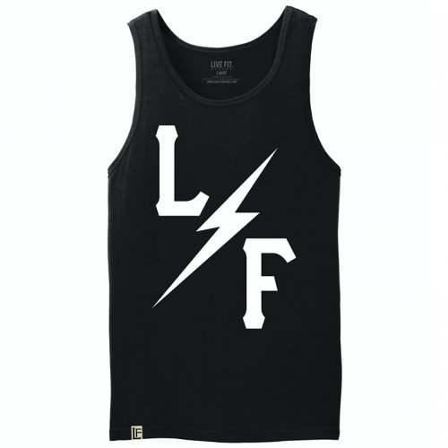 【即お届け】【LIVE FIT】【LVFT】BOLT TANK (BLACK)<img class='new_mark_img2' src='https://img.shop-pro.jp/img/new/icons7.gif' style='border:none;display:inline;margin:0px;padding:0px;width:auto;' />