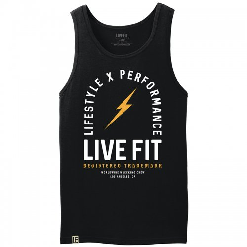 【即お届け】【LIVE FIT】【LVFT】REGISTER TRADEMARK TANK (BLACK / GOLD)<img class='new_mark_img2' src='https://img.shop-pro.jp/img/new/icons7.gif' style='border:none;display:inline;margin:0px;padding:0px;width:auto;' />
