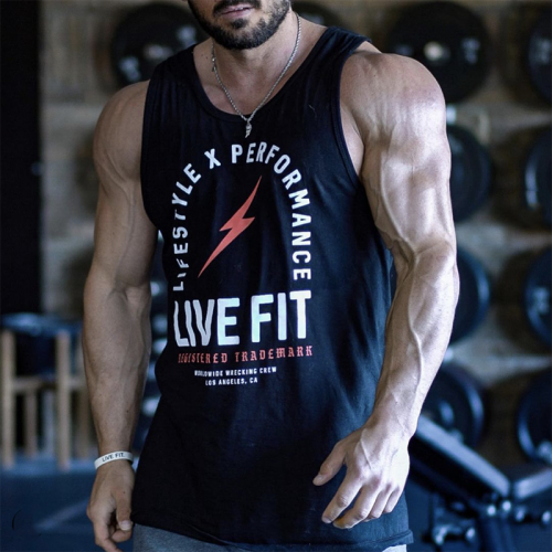 【即お届け】【LIVE FIT】【LVFT】REGISTER TRADEMARK TANK (BLACK / RED)<img class='new_mark_img2' src='https://img.shop-pro.jp/img/new/icons7.gif' style='border:none;display:inline;margin:0px;padding:0px;width:auto;' />