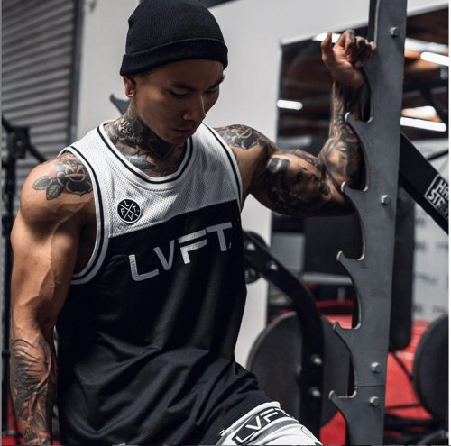 【即お届け】【LIVE FIT】【LVFT】PLAYOFF JERSEY (WHITE)<img class='new_mark_img2' src='https://img.shop-pro.jp/img/new/icons7.gif' style='border:none;display:inline;margin:0px;padding:0px;width:auto;' />