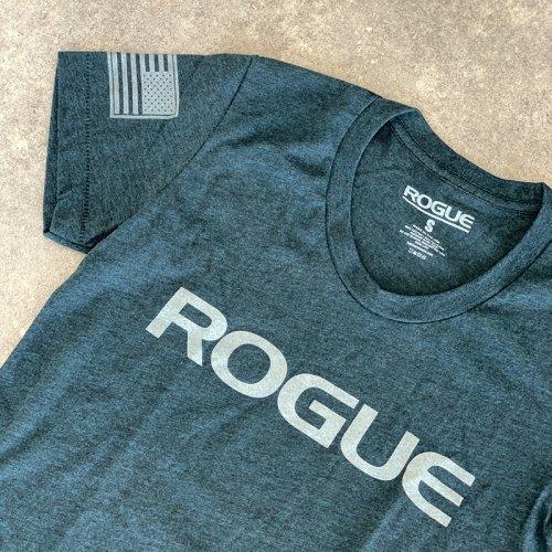 【即お届け】【ROGUE】ROGUE WOMEN'S BASIC SHIRT(Black Aqua / Silver)<img class='new_mark_img2' src='https://img.shop-pro.jp/img/new/icons11.gif' style='border:none;display:inline;margin:0px;padding:0px;width:auto;' />