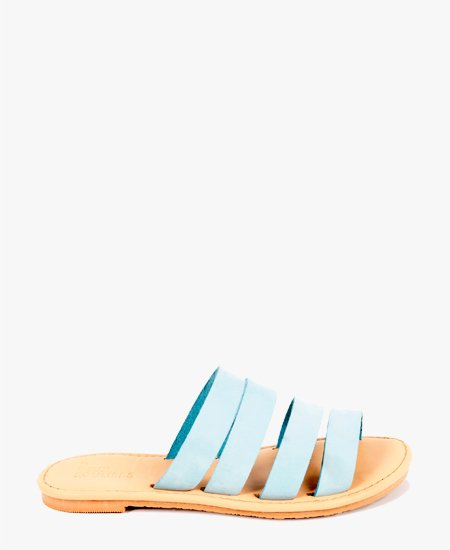 <img class='new_mark_img1' src='//img.shop-pro.jp/img/new/icons2.gif' style='border:none;display:inline;margin:0px;padding:0px;width:auto;' />Deux Souliers - Stripe Sandal #2 Light Blue フラットヌバックレザーサンダル (ライトブルー)