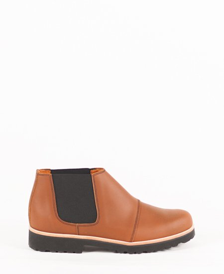 <img class='new_mark_img1' src='//img.shop-pro.jp/img/new/icons2.gif' style='border:none;display:inline;margin:0px;padding:0px;width:auto;' />Deux Souliers (MEN) - Chelsea Boot #2 Natural サイドゴア・アンクルブーツ (ブラウン)