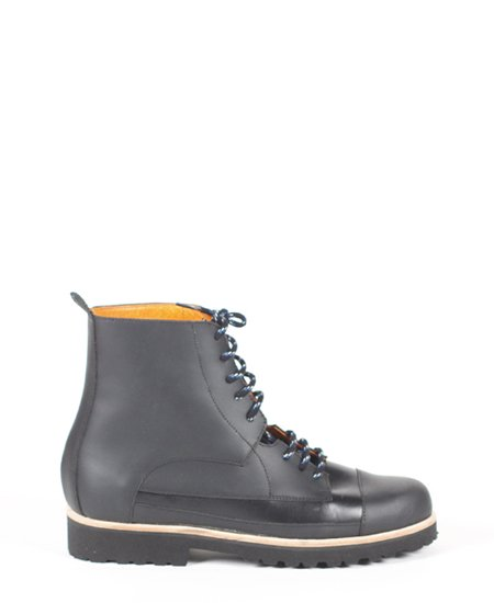 <img class='new_mark_img1' src='//img.shop-pro.jp/img/new/icons2.gif' style='border:none;display:inline;margin:0px;padding:0px;width:auto;' />Deux Souliers (MEN) - Oxford Boot #1 All Black レースアップ・ショートブーツ (ブラック)