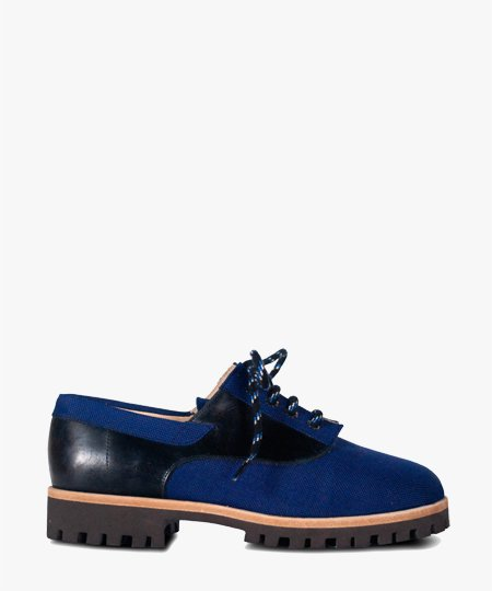 <img class='new_mark_img1' src='//img.shop-pro.jp/img/new/icons2.gif' style='border:none;display:inline;margin:0px;padding:0px;width:auto;' />Deux Souliers - Weekender #1 Navy レースアップシューズ (ネイビー)
