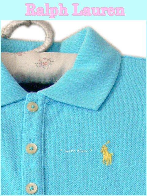 70c31ce04978d Ralph Lauren ラルフローレン ブルー×黄色ポニー 半袖ポロワンピース ガール キッズ 2T 3T 4T 女の子