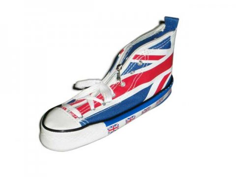 UNION JACK BOOT PENCIL CASE