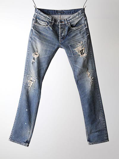 LOUNGE LIZARD/ラウンジリザード/STRETCH DENIM×REMAKESTANDARD SLIM