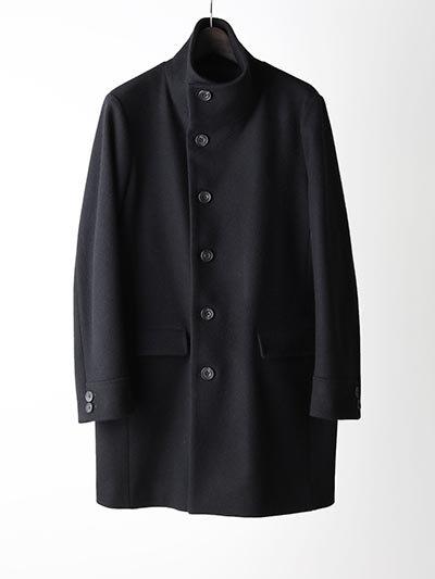 LOUNGE LIZARD/ラウンジリザード/SUPER100's DOUBLE CLOTH MELTON HIGH NECK COAT